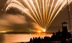 Marina di Grosseto, fuochi d'artificio per San Rocco (16 agosto)